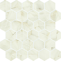 alabastro deco avorio hexagon